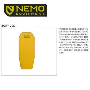 NEMO Equipment/ニーモ・イクイップメント  スリーピングパッド ゾア 20S (51x122) NM-ZOR-20S 【TENTARP】【MATT】|highball