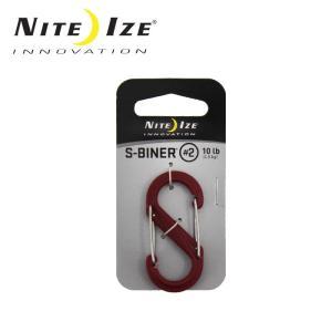 ナイトアイズ NITE-IZE キーホルダー Sビナ プラスチックNo2/SBP2-03-10/レッド/日本正規品|highball