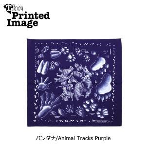 The Printed Image/ザ・プリンテッドイメージ  バンダナ/Animal Tracks Purple 【メール便・代引不可】|highball