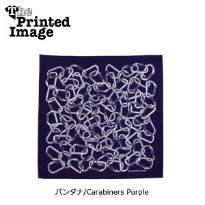 The Printed Image/ザ・プリンテッドイメージ  バンダナ/Carabiners Purple 【メール便・代引不可】|highball