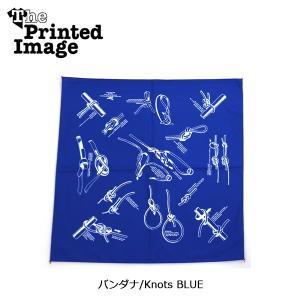 The Printed Image/ザ・プリンテッドイメージ  バンダナ/Knots BLUE 【メール便・代引不可】|highball