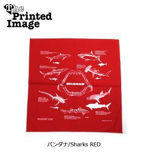 The Printed Image/ザ・プリンテッドイメージ  バンダナ/Sharks RED 【メール便・代引不可】|highball