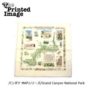 The Printed Image/ザ・プリンテッドイメージ  バンダナ MAPシリーズ/Grand Canyon National Park 【メール便・代引不可】|highball