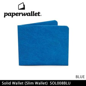 PaperWallet ペーパーウォレット ウォレット Solid Wallet (Slim Wallet)/BLUE SOL008BLU 【雑貨】財布 タイベック素材 紙の財布【メール便・代引不可】 highball