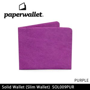 PaperWallet ペーパーウォレット ウォレット Solid Wallet (Slim Wallet)/PURPLE SOL009PUR【メール便・代引不可】 highball
