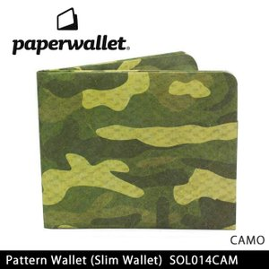 PaperWallet ペーパーウォレット ウォレット Pattern Wallet (Slim Wallet)/CAMO SOL014CAM【メール便・代引不可】 highball