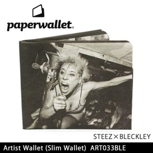 PaperWallet ペーパーウォレット ウォレット Artist Wallet (Slim Wallet)/STEEZxBLECKLEY ART033BLE【メール便・代引不可】 highball