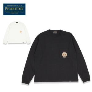 PENDLETON ペンドルトン Embroidery Long Sleeve Tee エンブロイダリーロングスリーブティー 1475-5004 【Tシャツ/トップス/長袖】【メール便・代引不可】|highball
