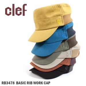clef/クレ 帽子 キャップ BASIC RIB WORK CAP RB3478【帽子】|highball