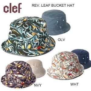 clef/クレ 帽子 ハットREV. LEAF BUCKET HAT/RB3534|highball