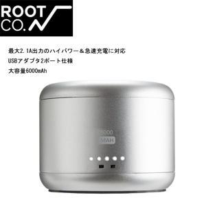 ROOT CO ルート WATER PROOF BATTERY IP65 6000mAh/HWB6-NV / HWB6-SL 【ZAKK】【雑貨】 モバイルバッテリー ウォータープルーフ|highball