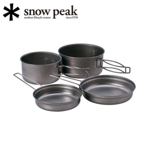 Snow Peak スノーピーク ソロクッカー/チタンパーソナルクッカーセット/SCS-020T 【SP-COOK】|highball