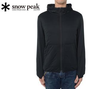 スノーピーク snowpeak フレキシブルインサレーションパーカー M ブラック/SW-15AU00103BK 【SP-APPL】