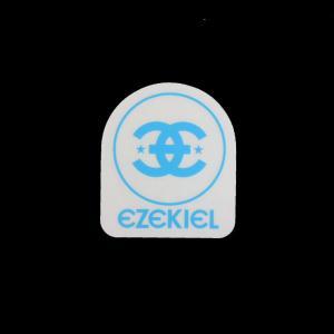 EZEKIEL ステッカー D BLUE 5cm×4.5cm|highball
