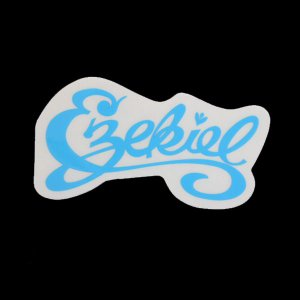 EZEKIEL ステッカー E BLUE 4cm×8cm|highball