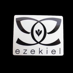 EZEKIEL ステッカー H BLACK 7.5cm×9.5cm|highball