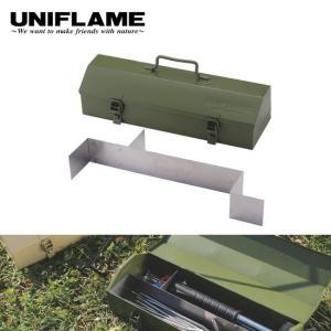 ユニフレーム UNIFLAME 工具入れ ペグメタルケース カーキグリーン  683514 【UNI-ETCA】|highball