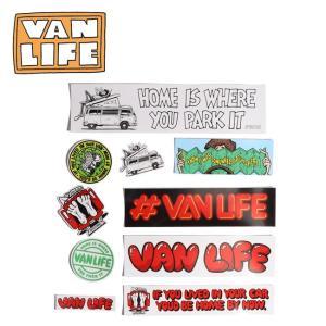 VAN LIFE バンライフ ASSORTED STICKERS アソーテッドステッカー VL-09-12-001 【アウトドア/シール/インテリア/ステーショナリー】|highball