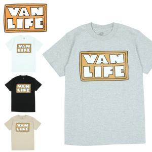 VAN LIFE バンライフ FRONT PRINT T-SHIRTS フロントプリントティーシャツ VL-02-007 【半袖/トップス/アウトドア/カジュアル】【メール便・代引不可】|highball