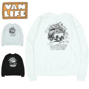 VAN LIFE バンライフ CREW NECK SWEAT SHIRT クルーネックスウェットシャツ VL-03-001 【トップス/アウトドア/カジュアル/長袖】|highball