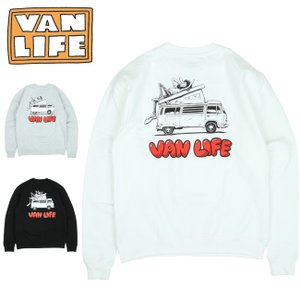 VAN LIFE バンライフ CREW NECK SWEAT SHIRT クルーネックスウェットシャツ VL-03-002 【トップス/アウトドア/カジュアル/長袖】|highball