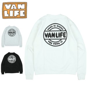 VAN LIFE バンライフ CREW NECK SWEAT SHIRT クルーネックスウェットシャツ VL-03-003 【トップス/アウトドア/カジュアル/長袖】|highball