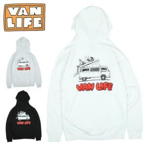 VAN LIFE バンライフ HOODED SWEAT SHIRT フーデッドスウェットシャツ VL-04-002 【トップス/アウトドア/プルオーバーフード/カジュアル】|highball