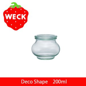 WECK ウェック Deco Shape 200ml WE-902 保存容器 キャニスター 保存ビン ガラス ストッカー 茶葉 ジャム コーヒー豆 【雑貨】|highball