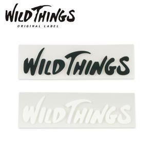 WILDTHINGS ワイルドシングス CUTTING LOGO STICKER カッティングロゴステッカー 21262TA 【シール/カスタム】【メール便・代引不可】|highball