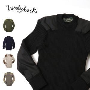 Woolyback ウーリーバック ニット York Crew C-Neck With Patches 9024 【服】メンズ ニットウール 冬物 暖か 丸首 クルーネック|highball