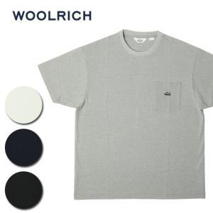 WOOL RICH ウールリッチ C/N ROUND BODY EMBROIDERY TEE NOTEE1932 【Tシャツ/トップス/ポケット/アウトドア】|highball