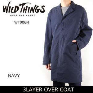 ワイルドシングス WILDTHINGS 3LAYER OVER COAT WT006N 【服】 ジャケット コート アウター アウトドア 防寒 防風 耐水性|highball