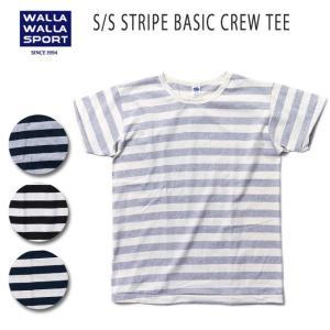 WALLA WALLA SPORT/ワラワラスポーツ S/S STRIPE BASIC CREW TEE【メール便・代引不可】|highball