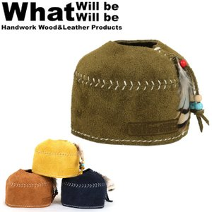 What will be will be ワット ウィル ビー ウィル ビー ガス缶カバー スウェードレザーODガス缶カバー(小:110サイズ)アウトドア【メール便・代引不可】|highball