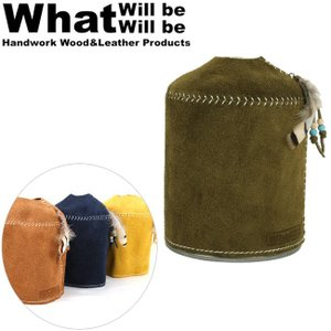 What will be will be ワット ウィル ビー ウィル ビー ガス缶カバー スウェードレザーODガス缶カバー(大:470/500サイズ)【メール便・代引不可】|highball