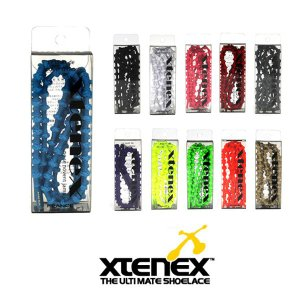エクステネクス Xtenex The Ultimate Shoelace Sports 300 シングルカラー 1セット(2本・75cm) 「魔法の靴ひも」【メール便・代引不可】 highball