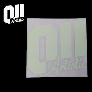 011Artistic/ゼロワンワンアーティスティック ステッカー STICKER LOGO NIGHT 日本正規品 ロゴ ナイト 蓄光素材  150mmx146mm|highball