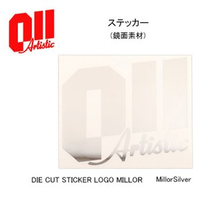 2017 011Artistic ゼロワンワン アーティスティック   ステッカー DIE CUT STICKER LOGO MILLOR (鏡面素材) 【スノー雑貨】  ステッカー/日本正規品|highball