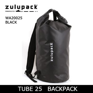 zulupack ズールーパック TUBE 25 BACKPACK バックパック WA20025/1 BLACK 【カバン】ダッフルバッグ サンドバッグ デイパック 防水 アウトドア|highball
