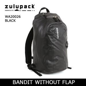 zulupack ズールーパック BANDIT WITHOUT FLAP バックパック WA20026 BLACK 【カバン】ダッフルバッグ サンドバッグ デイパック 防水 アウトドア|highball