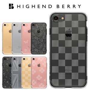 iPhoneSE2(第二世代) iPhone8 iPhone7 スマホケース アイフォンケース Highend berry ハイエンドベリー 4.7インチ 対応 ストラップホール付き TPU ソフトケース|highendberrystore