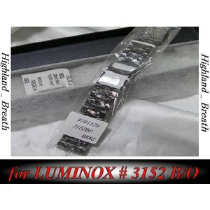 New ルミノックスLuminox .3152 BO ブラックオウト替えベルト|highland-breath
