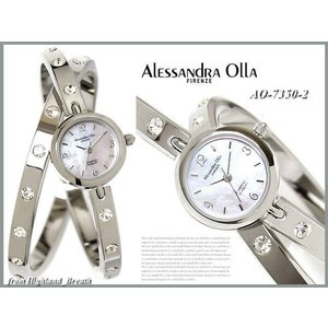 ★Alessandra Olla アレッサンドラオーラ 腕時計 AO-7350-2 レディース バングルタイプ 2連|highland-breath