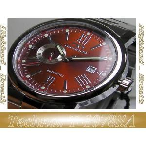 ★TECHNOS(テクノス)機械式自動巻き腕時計(裏スケルトン)T1078SA 男性用|highland-breath
