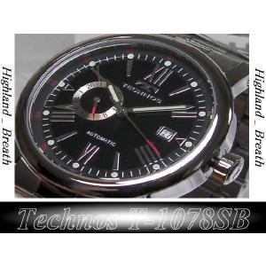 ★TECHNOS(テクノス)機械式自動巻き腕時計(裏スケルトン)T1078SB 男性用|highland-breath