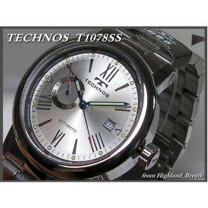 ≪即日発送≫★≪TECHNOS 腕時計 テクノス 腕時計 機械式 自動巻き T1078SS≫裏スケルトン|highland-breath