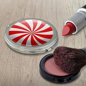 ペパーミントスワールコンパクトな旅行財布のハンドバッグの化粧鏡