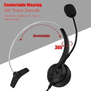 ノイズキャンセリング通信 - USBコールセンターコードレスヘッドセットには、バックグラウンドノイズ...