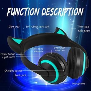 クールにかっこいい悪魔デザイン: 1つのヘッドフォンで聞くことができます。の注意を引き付けることもの...