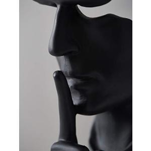 抽象的で創造的な沈黙の彫像、Eco Freindly Resinで作られています。無臭、無毒無害.....